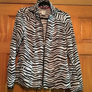 HeartSoul Zebra Print Hooded Jacket - Nurses BF